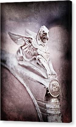 1932 Essex Griffin Hood Ornament -0482ac Canvas Print by Jill Reger