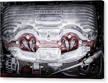 1932 Ford 409 Engine -0037ac Canvas Print by Jill Reger