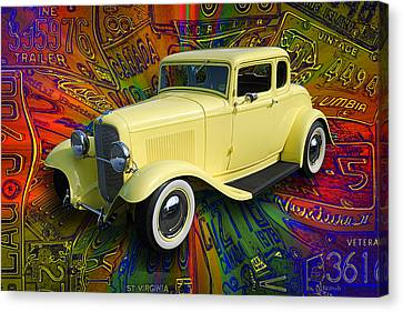1932 Ford Coupe Canvas Print by Richard Farrington