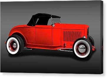 Custom Ford Canvas Print - 1932 Ford High Boy Roadster Convertible  -  1932highboycvfordfa172109 by Frank J Benz