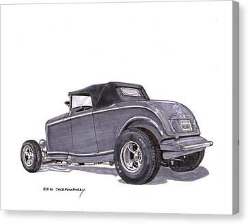 1932 Ford Hot Rod Canvas Print by Jack Pumphrey