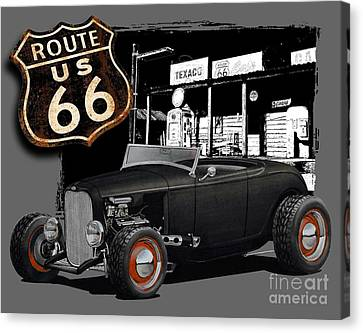 1932 Ford On Route 66 Canvas Print by Paul Kuras