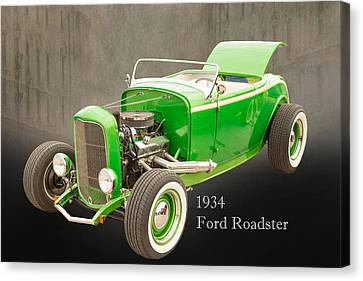 1932 Ford Roadster Color Photographs And Fine Art Prints 006.02 Canvas Print by M K  Miller