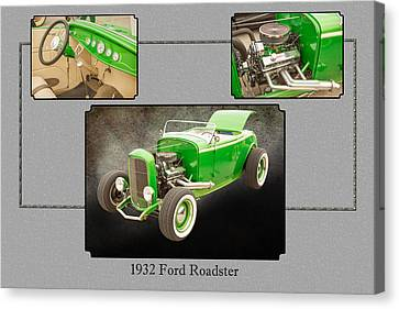 1932 Ford Roadster Color Photographs And Fine Art Prints 008.02 Canvas Print by M K  Miller