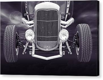 1932 Ford Roadster Sepia Posters And Prints 013.01 Canvas Print by M K  Miller