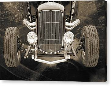 1932 Ford Roadster Sepia Posters And Prints 014.01 Canvas Print by M K  Miller