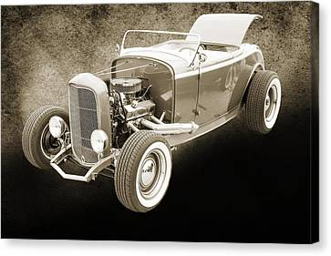 1932 Ford Roadster Sepia Posters And Prints 015.01 Canvas Print by M K  Miller