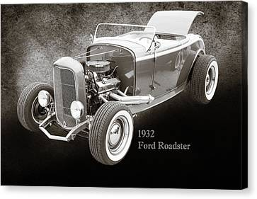 1932 Ford Roadster Sepia Posters And Prints 016.01 Canvas Print by M K  Miller