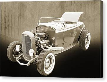 1932 Ford Roadster Sepia Posters And Prints 017.01 Canvas Print by M K  Miller