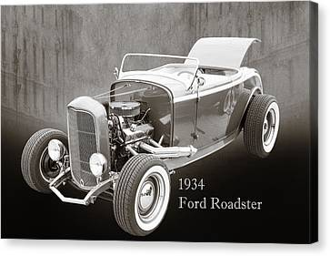1932 Ford Roadster Sepia Posters And Prints 018.01 Canvas Print by M K  Miller