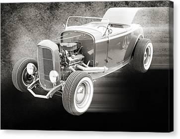 1932 Ford Roadster Sepia Posters And Prints 019.01 Canvas Print by M K  Miller
