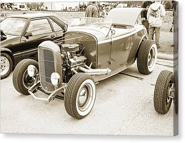 1932 Ford Roadster Sepia Posters And Prints 021.01 Canvas Print by M K  Miller
