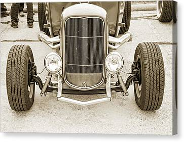1932 Ford Roadster Sepia Posters And Prints 022.01 Canvas Print by M K  Miller