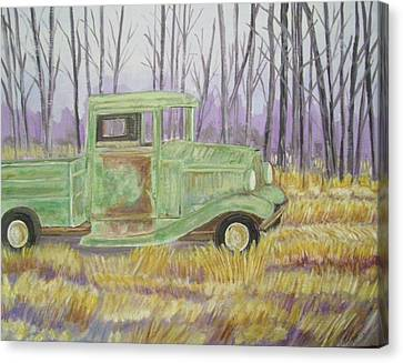 1932  Greenford Pickup Truck Canvas Print by Belinda Lawson