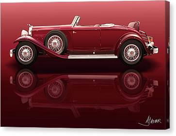1932 Packard 904 Roadster Canvas Print by Alain Jamar