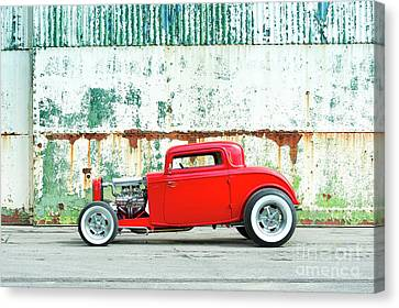 1932 Red Rod Canvas Print by Tim Gainey