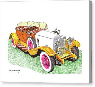 1932 Rolls Royce Phantom Skiff Tourer By Tanner Canvas Print