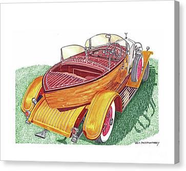 1932 Rolls Royce Phantom Skiff Tourer Canvas Print