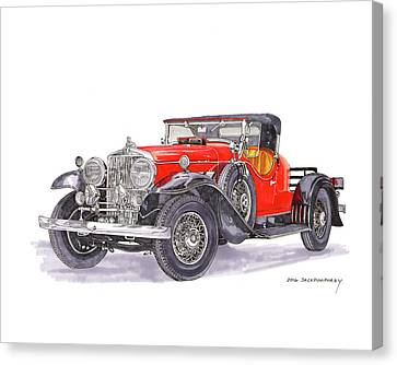 1932 Stutz 8 Bearcat Boattail Speedster Canvas Print