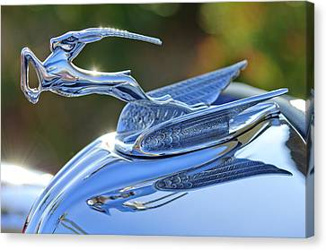 Mascots Canvas Print - 1933 Chrysler Imperial Hood Ornament 2 by Jill Reger