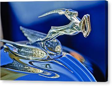 1933 Chrysler Imperial Hood Ornament Canvas Print by Jill Reger