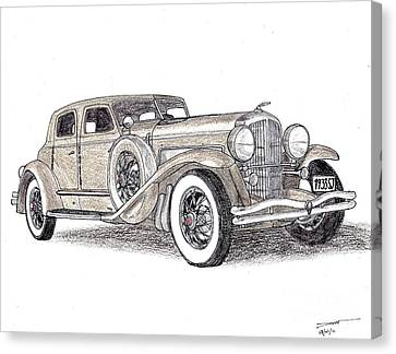 1933 Duesenberg Sj Canvas Print by Dan Poll
