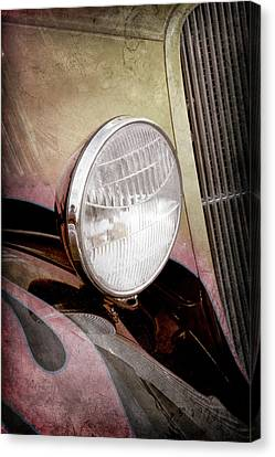 1933 Ford Coupe Hot Rod -0365ac Canvas Print by Jill Reger