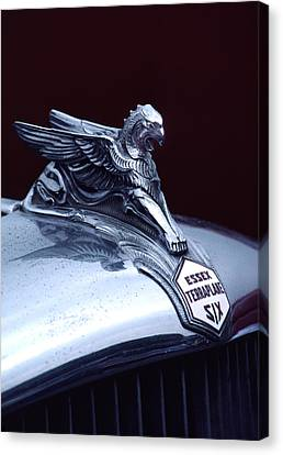 1933 Hudson Essex Terraplane Griffin Hood Ornament Canvas Print by Carol Leigh