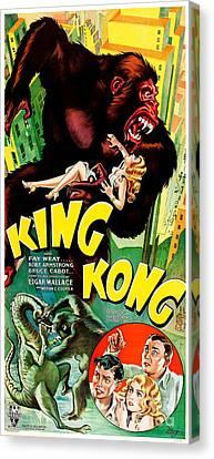 1933 King King Movie Poster Canvas Print by Jon Neidert