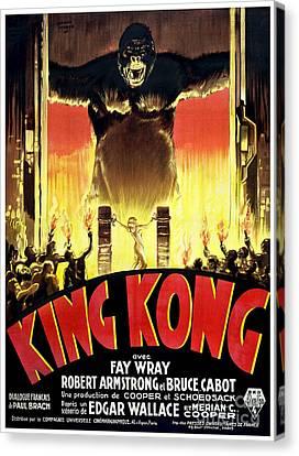 1933 King Kong French  Movie Poster Canvas Print by Jon Neidert