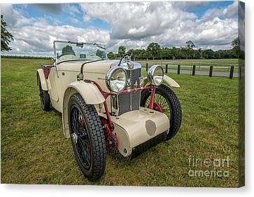 1933 Mg Sports Car Canvas Print by Adrian Evans