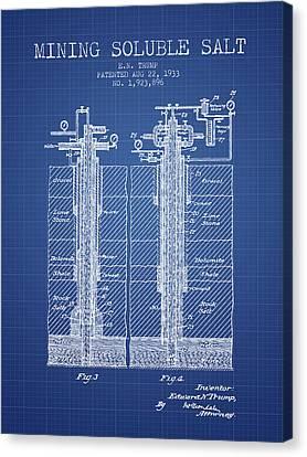 1933 Mining Soluble Salt Patent En40_bp Canvas Print by Aged Pixel