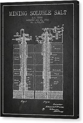 1933 Mining Soluble Salt Patent En40_cg Canvas Print by Aged Pixel