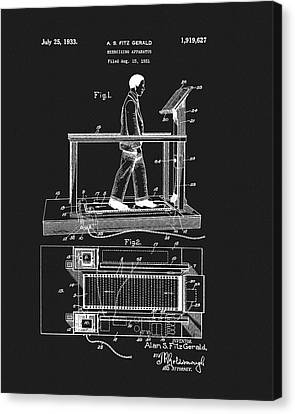 1933 Treadmill Patent Canvas Print by Dan Sproul