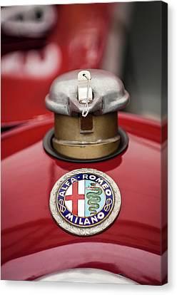 1934 Alfa Romeo Tipo B Hood Emblem Canvas Print by Jill Reger