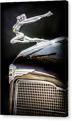 1934 Buick Series 96-c Convertible Coupe Hood Ornament - Emblem -0527ac Canvas Print by Jill Reger
