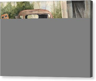 1934 Dodge Half-ton Canvas Print by Sam Sidders