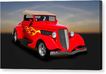 1934 Ford Convertible Coupe  -  1934fdcv30 Canvas Print