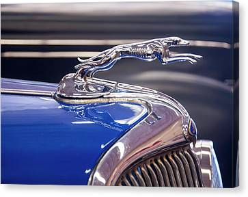 Canvas Print featuring the digital art 1934  Ford Greyhound Hood Ornament by Chris Flees