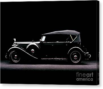 1934 Packard Super Eight Cowl Phaeton Water Color Digital Art And Pallet Knife Canvas Print by R Muirhead Art