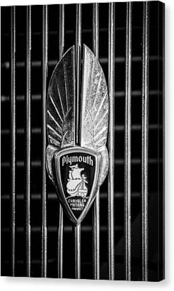 Mascots Canvas Print - 1934 Plymouth Emblem 2 by Jill Reger