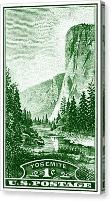 1934 Yosemite Park Stamp Canvas Print