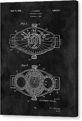 Astronomical Canvas Print - 1935 Astronomical Watch by Dan Sproul