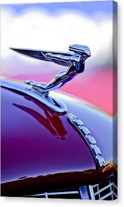 1935 Auburn Hood Ornament 4 Canvas Print by Jill Reger