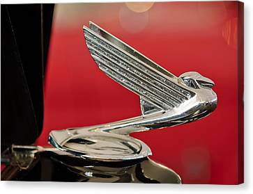 1935  Chevrolet Eagle Hood Ornament Canvas Print by Jill Reger