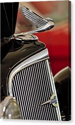 1935 Chevrolet Optional Eagle Hood Ornament Canvas Print by Jill Reger
