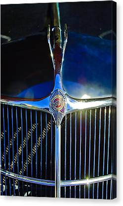 Mascots Canvas Print - 1935 Chrysler Hood Ornament 2 by Jill Reger