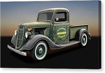 1935 Ford Pickup Truck  -  1935fordtruck9735 Canvas Print