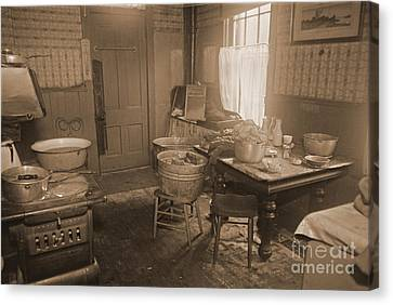1935 Kitchen Canvas Print by Padre Art