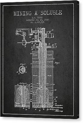 1935 Mining A Soluble Patent En39_cg Canvas Print by Aged Pixel